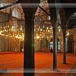 Rustem Pasha Mosque in Istanbul   Turkey (interior)