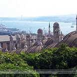 Suleiman Mosque in Istanbul   Turkey (view to Bosphorus)
