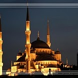 Sultan Ahmed Mosque in Istanbul   Turkey (night)