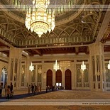 Sultan Qaboos Grand Mosque in Muscat    Oman (main prayer hall)